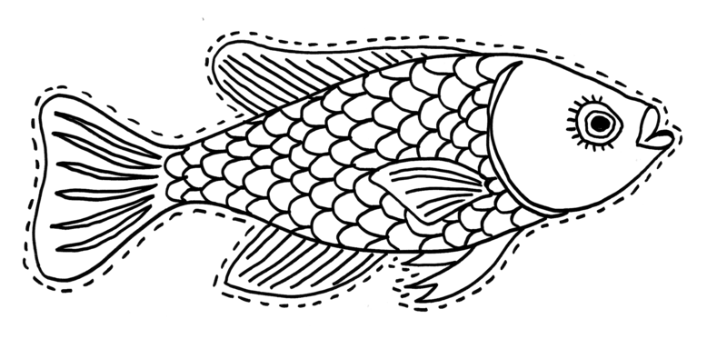 Coloriage204 coloriage de poisson d avril - Poisson d avril dessin ...