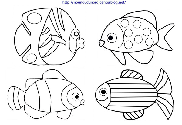 Colorier un poisson d 39 avril - Tfou coloriage ...