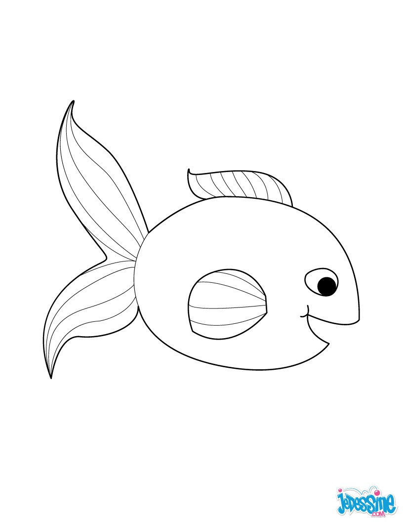 dessin à colorier poisson avril maternelle