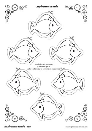 Dessin poisson d 39 avril colorier - Coloriage de poisson a imprimer ...