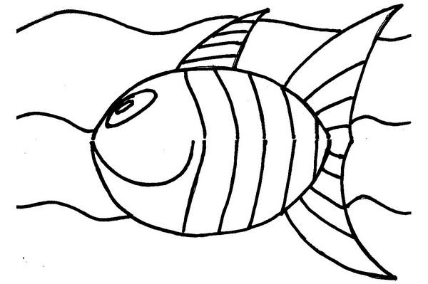 Coloriage dessiner gros poisson d 39 avril - Coloriage mois d avril ...
