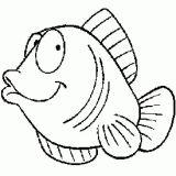 coloriage à dessiner gros poisson d'avril