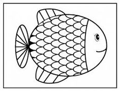 coloriage petit poisson d'avril