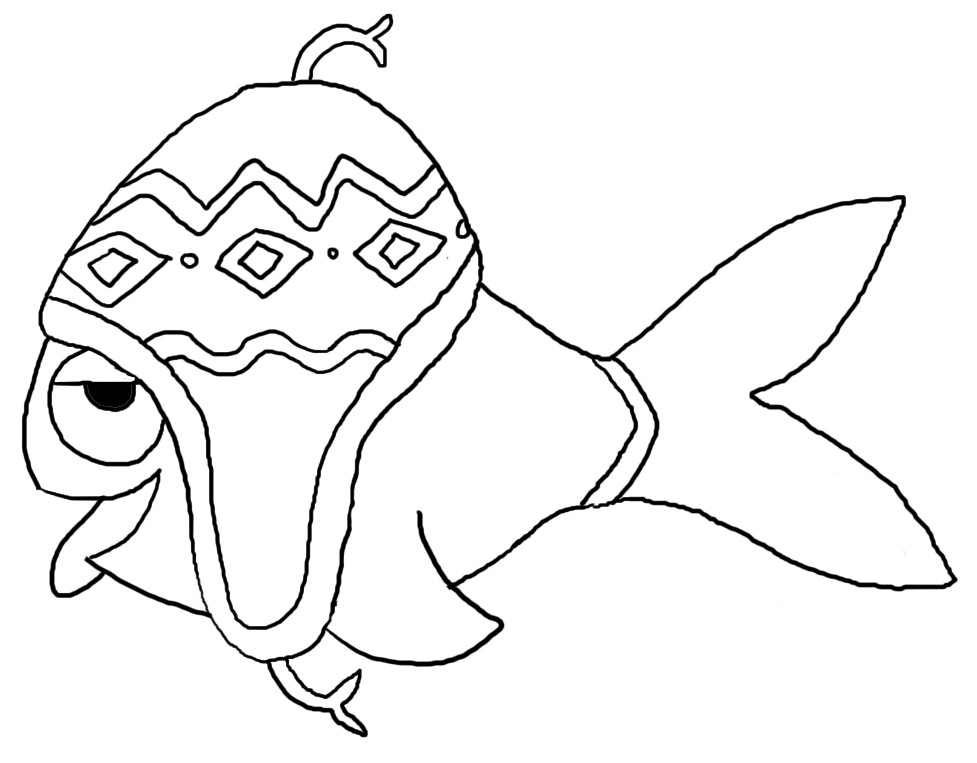 Coloriage poisson d 39 avril tfou - Dessin de poisson d avril ...