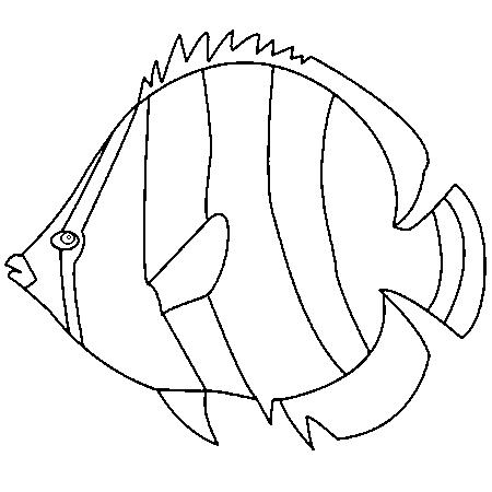 Dessin colorier de poisson d 39 avril facile - Dessin de poisson facile ...