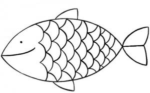 coloriage � dessiner cod� poisson d'avril