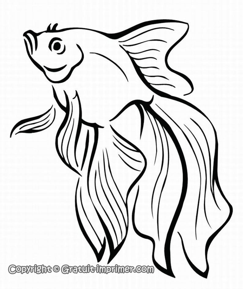 dessin à colorier imprimer poisson avril