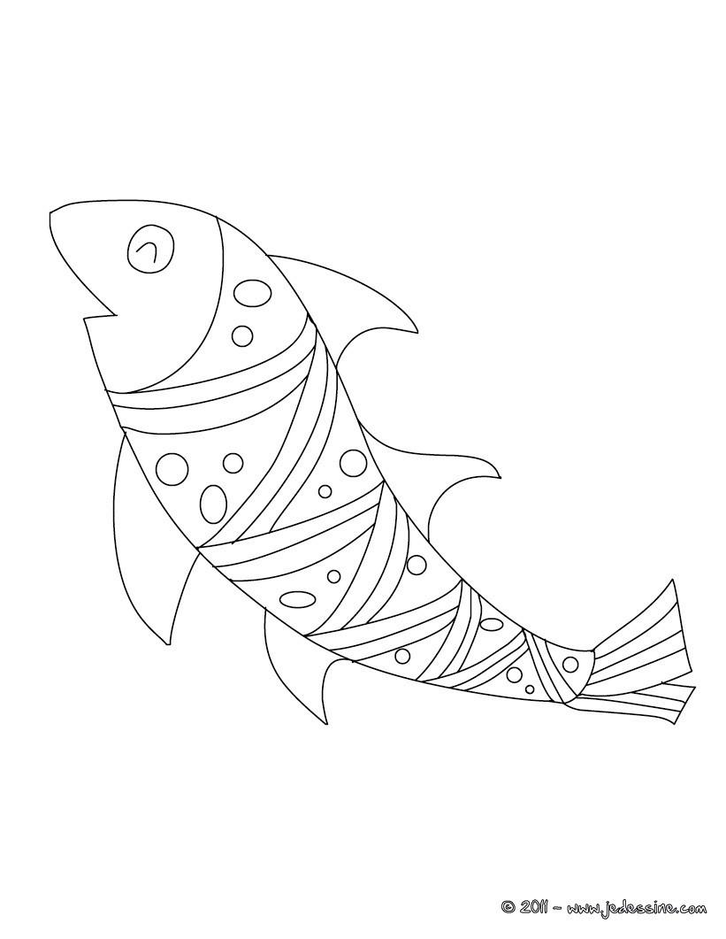 dessin à colorier poisson d'avril a imprimer tfou