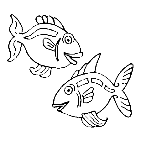 Coloriage poisson d 39 avril cp - Poisson dessin ...