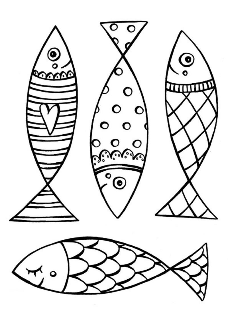 Dessin colorier poisson d 39 avril a decouper - Poisson a decouper ...