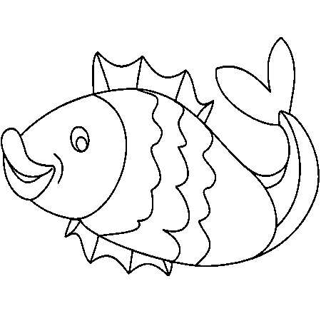 Dessin poisson d 39 avril deja colorier - Poisson dessin ...