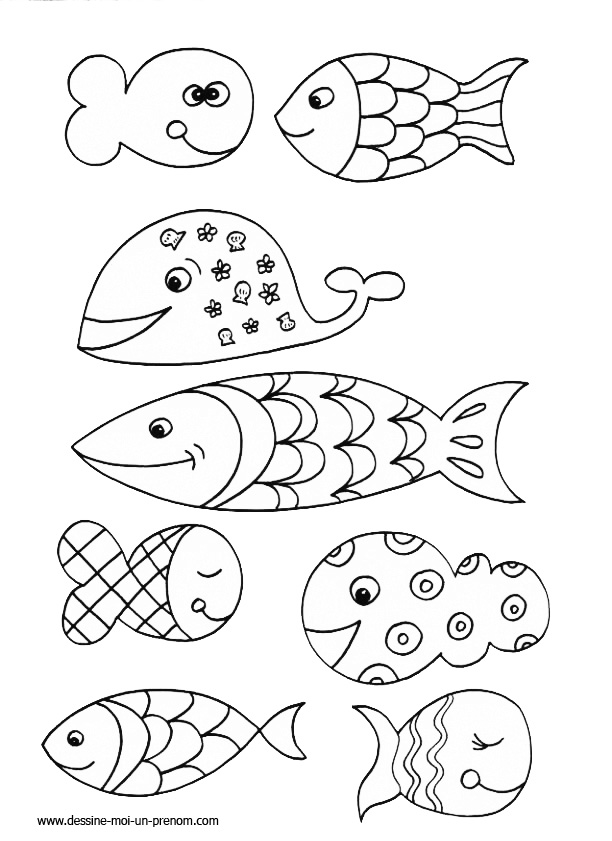 coloriage poisson d'avril cp