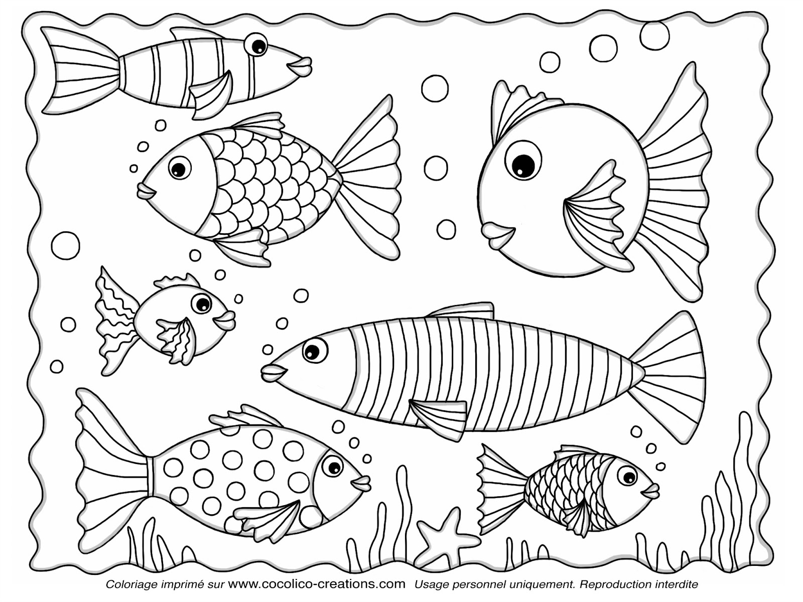 121 Dessins De Coloriage Poisson Avril à Imprimer