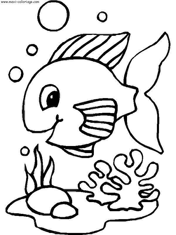 Connu 93 dessins de coloriage Poisson D'avril 2 Ans à imprimer ND03