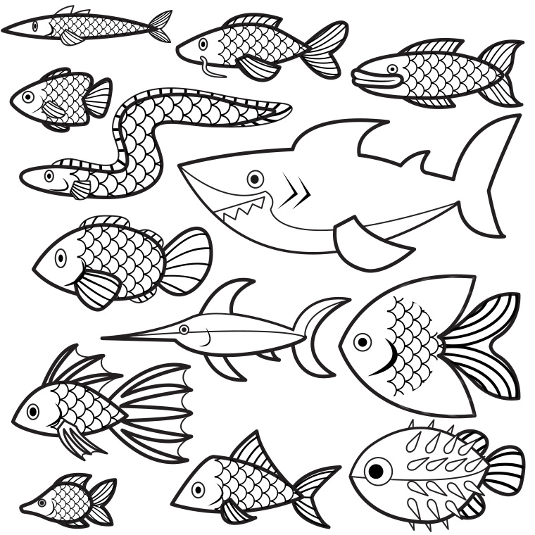 96 dessins de coloriage poisson d 39 avril rigolo a imprimer imprimer - Dessin de poisson d avril ...