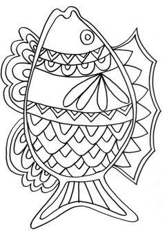 79 dessins de coloriage poisson d 39 avril tfou imprimer - Tfou coloriage ...