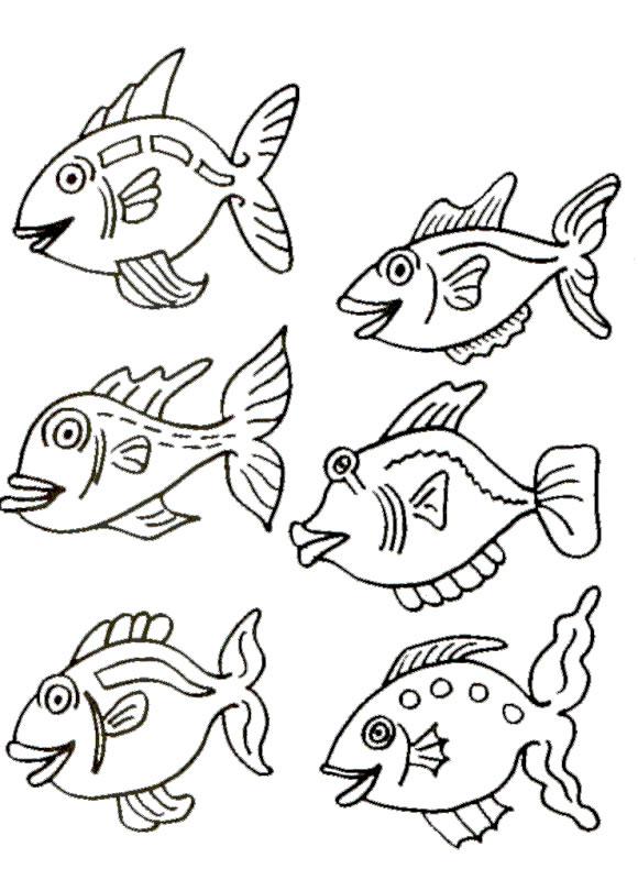 coloriage poisson davril tfou
