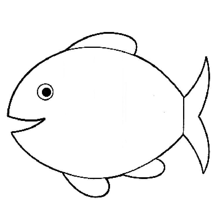 dessin à colorier le poisson rouge