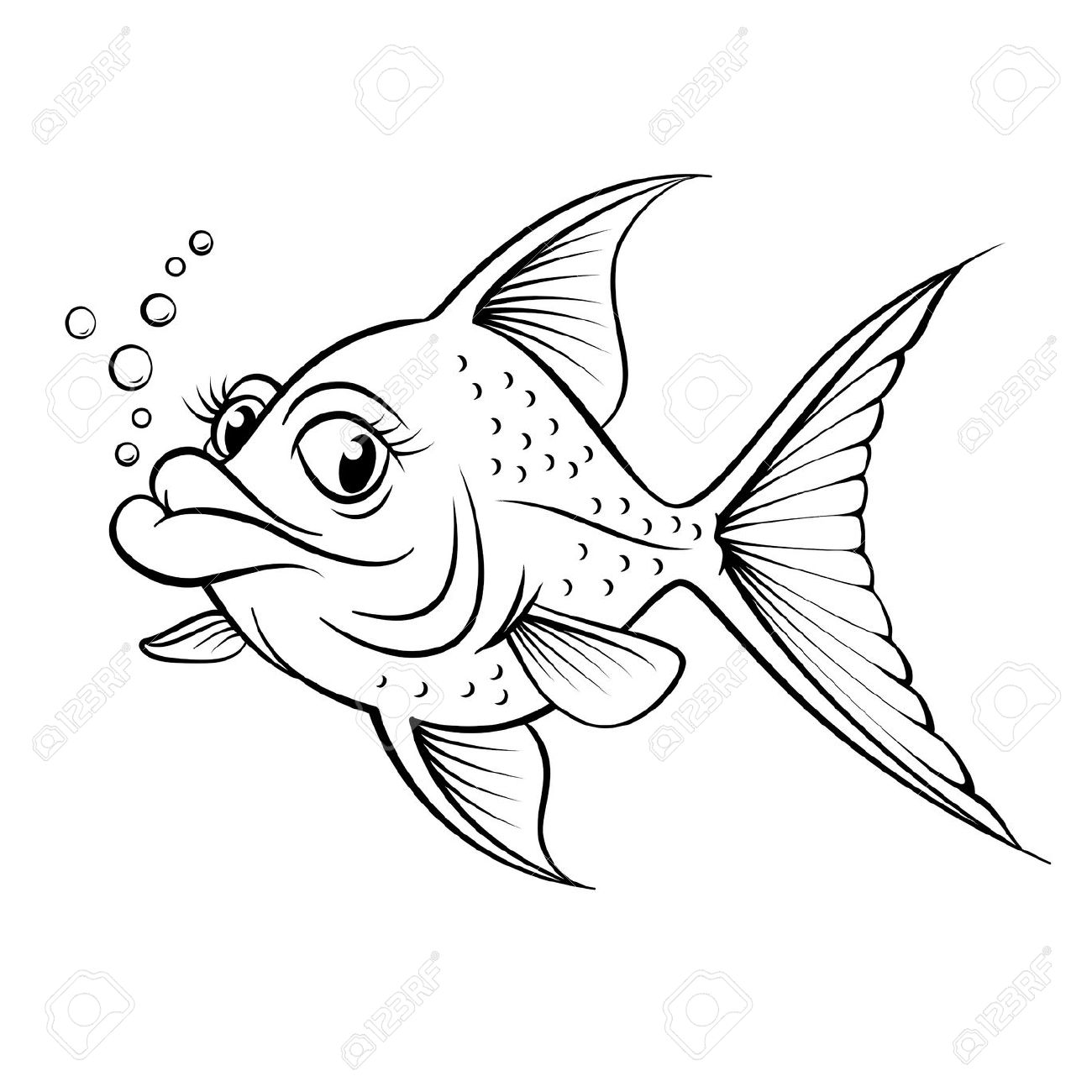 dessin poisson rouge dessin � colorier