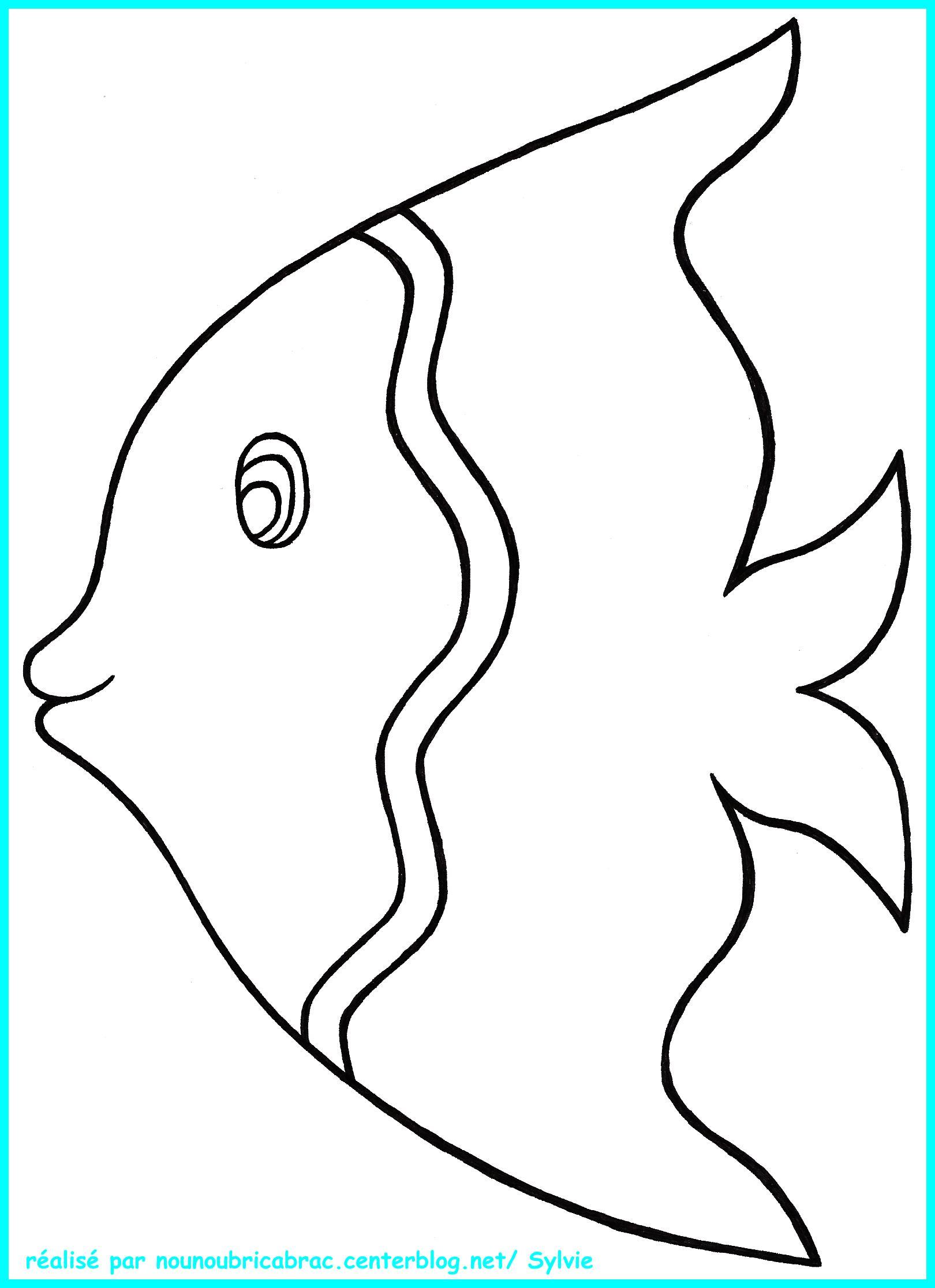 116 dessins de coloriage poisson rouge imprimer - Dessin de poisson facile ...