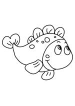 dessin à colorier poisson rouge a imprimer