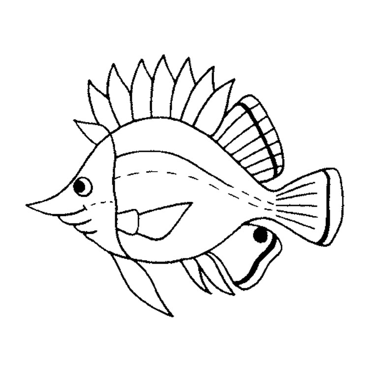 116 dessins de coloriage poisson rouge imprimer for Pesci da stampare e colorare