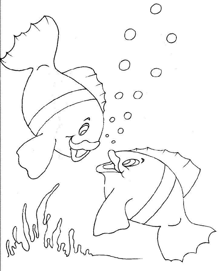 Coloriage dessiner les poissons rouges matisse - Dessin de poisson rouge ...