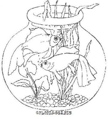 poisson rouge jeux dessin à colorier