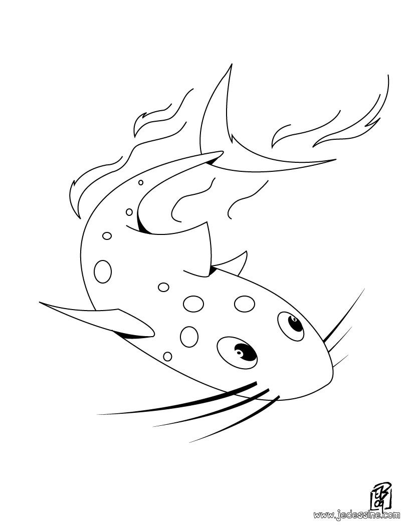poisson rouge jeux gratuit dessin à colorier