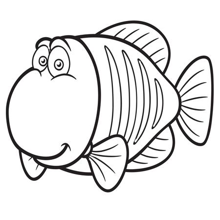 poisson rouge jeux coloriage à dessiner