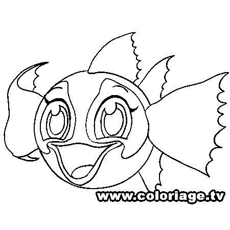 116 dessins de coloriage poisson rouge imprimer - Poisson rouge rigolo ...