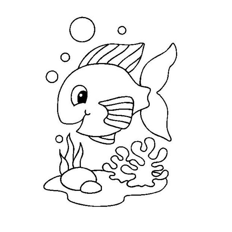 116 dessins de coloriage poisson rouge imprimer - Dessin enfant poisson ...