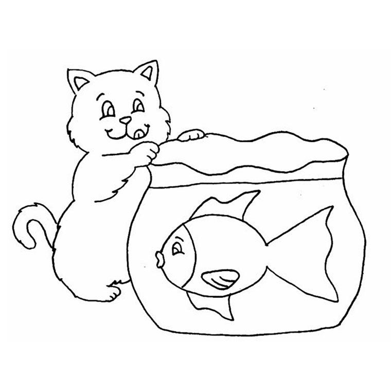 dessin de poisson rouge