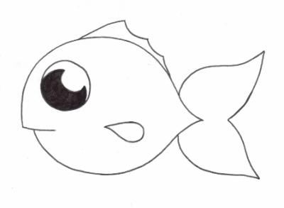 Dessin poisson rouge en ligne for Aquarium poisson rouge dessin