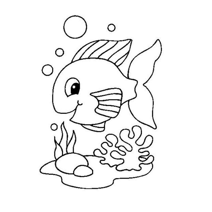 dessin poisson rouge coloriage à dessiner
