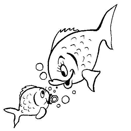 coloriage à dessiner le poisson rouge