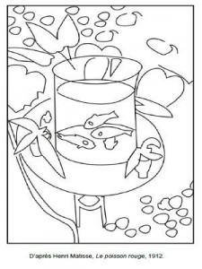 coloriage à dessiner a imprimer poisson rouge