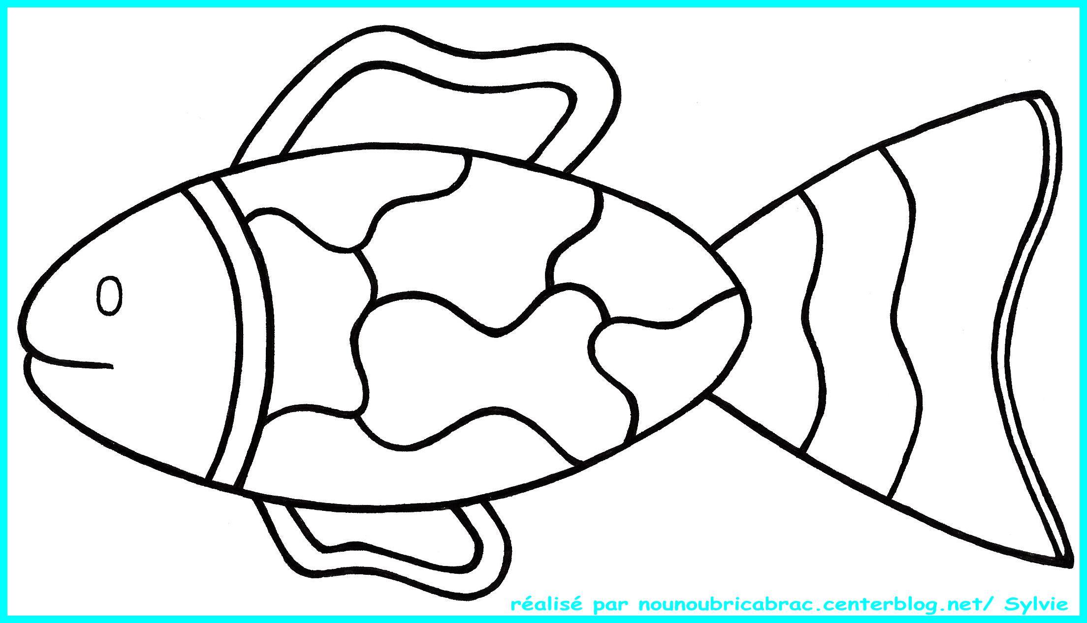 Coloriage poisson pdf - Dessin de poisson facile ...