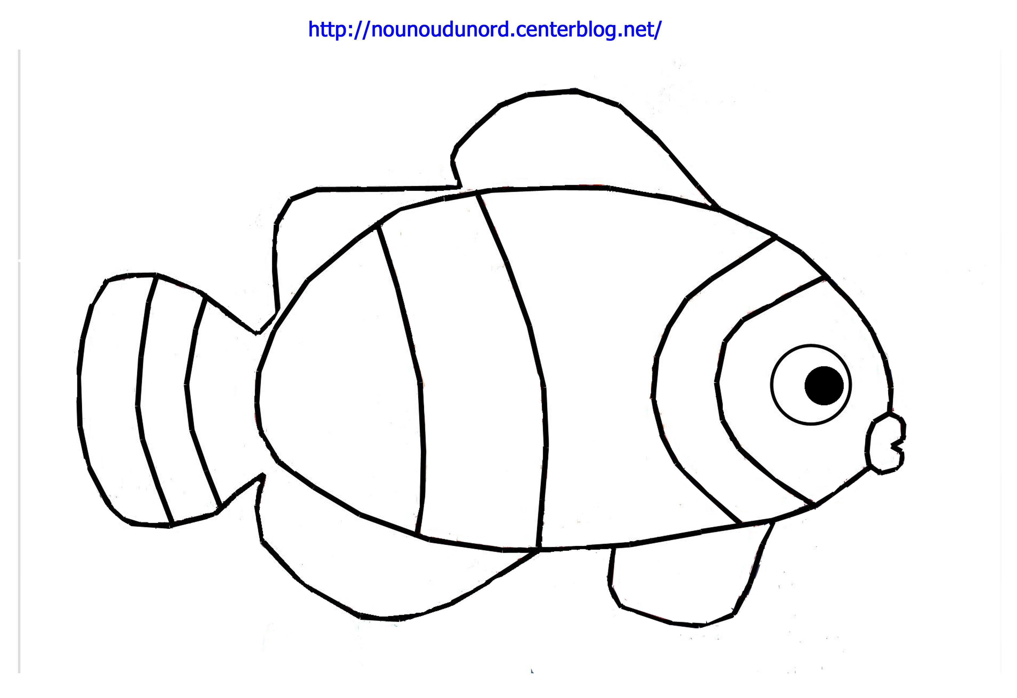 coloriage à dessiner poisson de mer