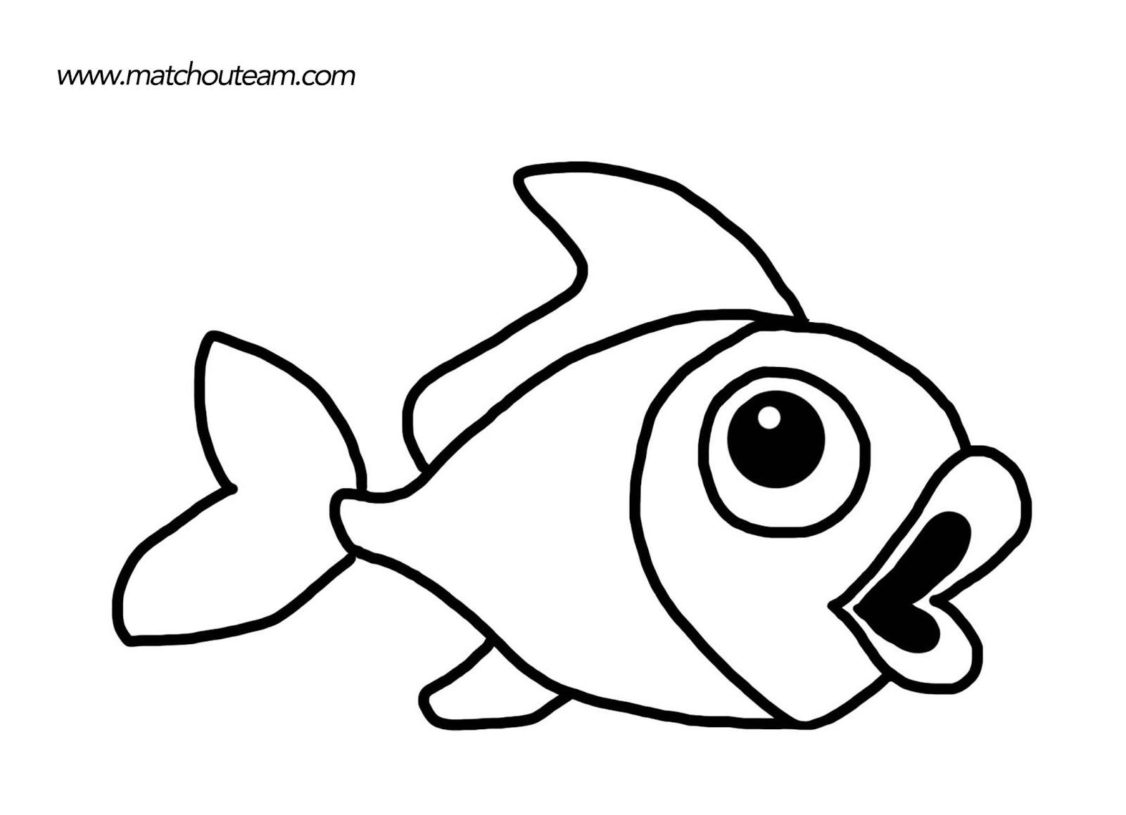 Coloriage poisson et coquillage - Dessin poisson ...