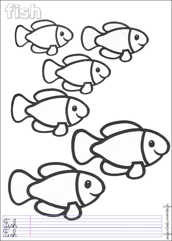 dessin poisson gratuit à imprimer