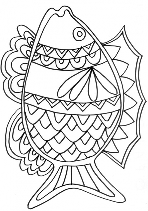 coloriage perche poisson