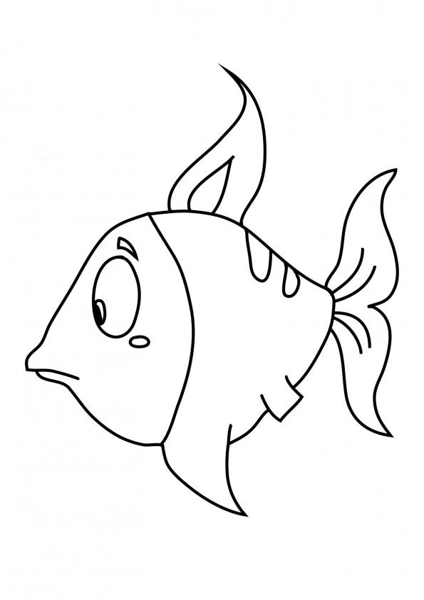 dessin à colorier poisson arc en ciel
