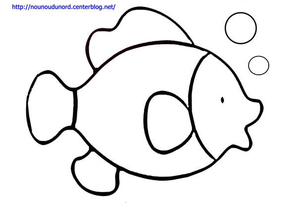 coloriage poisson aquarium