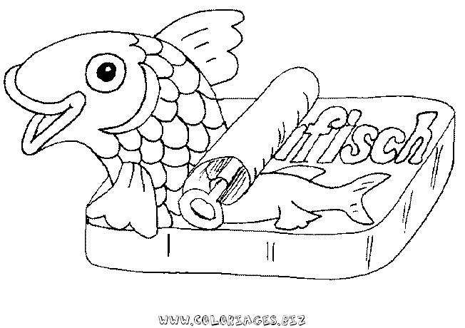 dessin � colorier poissonnerie
