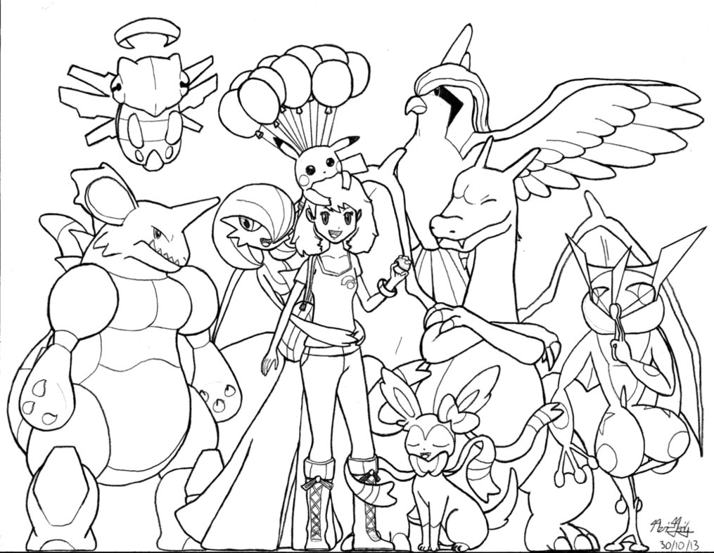 20 dessins de coloriage pokemon ex imprimer - Coloriage pokemon en ligne ...