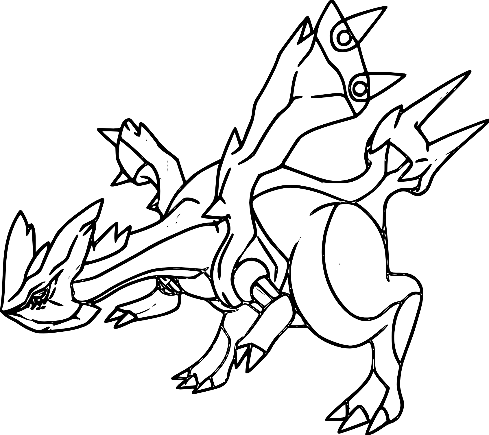 18 dessins de coloriage pokemon kyurem imprimer - Coloriage de pokemon a imprimer ...