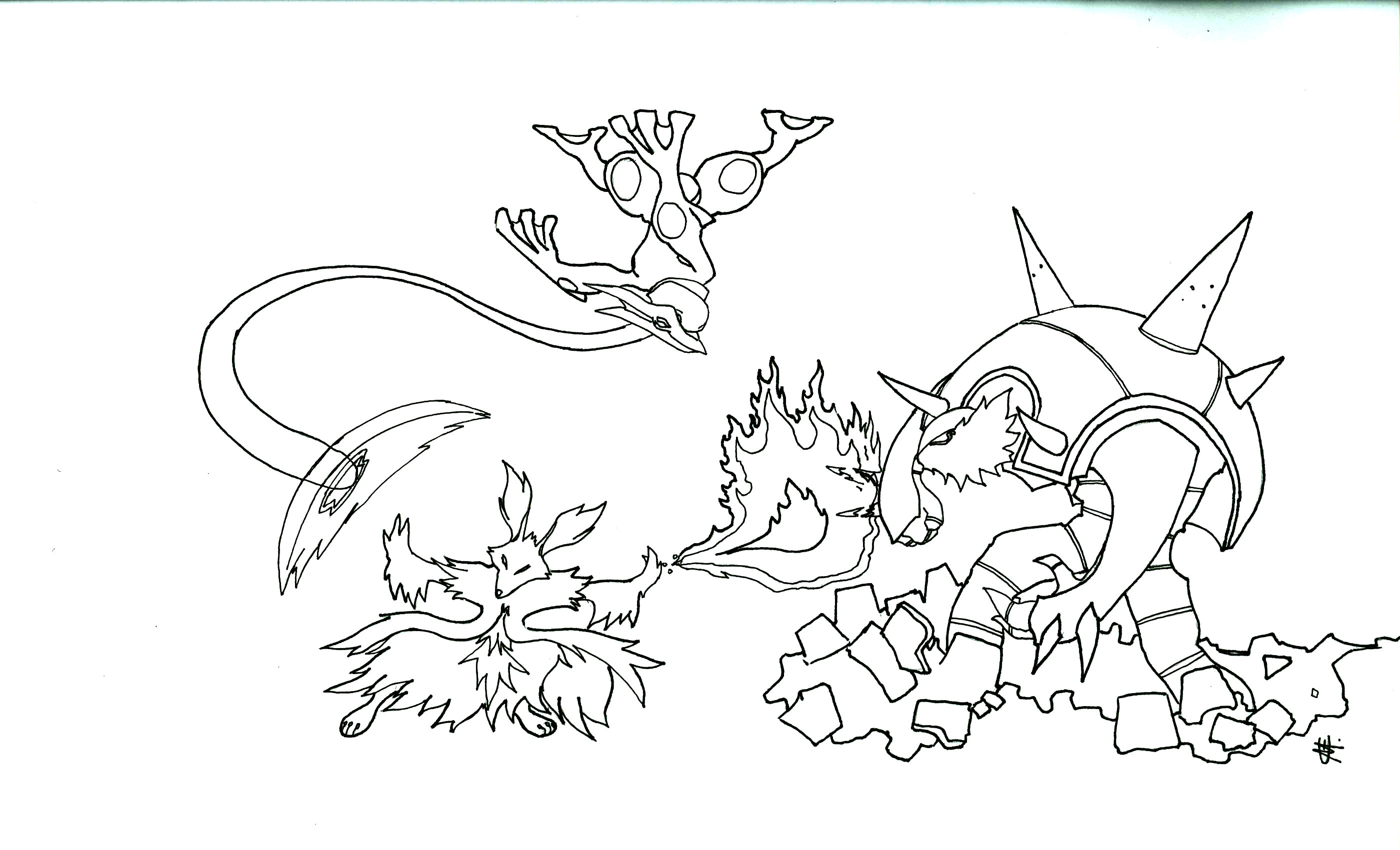 36 dessins de coloriage pokemon mega evolution imprimer - Coloriage pokemon ex ...