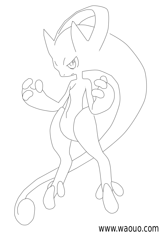 coloriage à dessiner pokemon mega evolution evoli