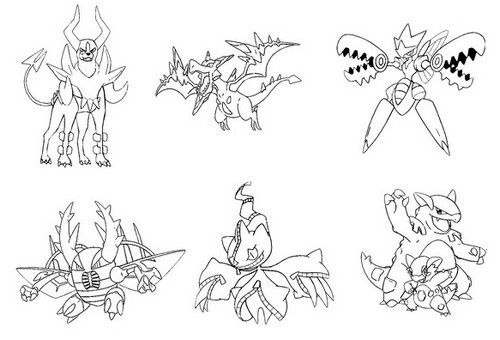 coloriage pokemon mega evolution en ligne